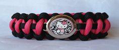 Hello Kitty Paracord Bracelets with Zebra by NaNasCraftCreations, $16.00