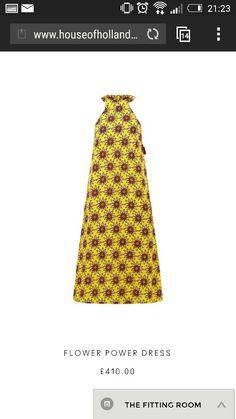 House of Holland flower power dress...just needs a mean clashing shirt underneath!