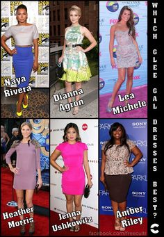 Which Glee gal dresses best?