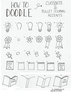 doodle Bujo Weekly Spread, Bullet Journal Junkies, Bullet Journal Inspiration, Bullet Journals, Journal Ideas, Simple Doodles, Doodle Ideas, Banner Drawing, Planner Doodles