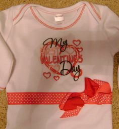 My First Valentines Infant Gown by BibsandBurps on Etsy, $22.00