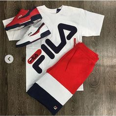 Fila outfit cop or drop ? Dope Outfits For Guys, Swag Outfits Men, Tomboy Outfits, Nike Outfits, Casual Outfits, Fashion Outfits, Hype Clothing, Mens Clothing Styles, Terno Casual