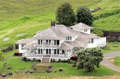 Aerial view of Oprah's Hawaiian Home in Maui