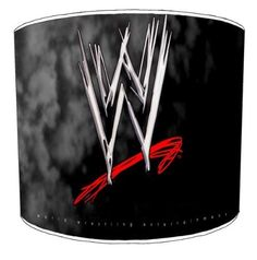 Premier Lampshades Ceiling Wwe Wrestling Logo Childrens Lamp Shades   8 Inch