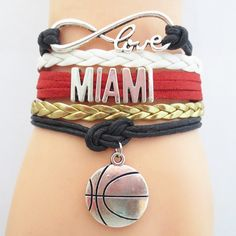 Infinity Love Miami Basketball - Show off your teams colors! Cutest Love Miami Bracelet on the Planet! Don't miss our Special Sales Event. Many teams available. www.DilyDalee.co