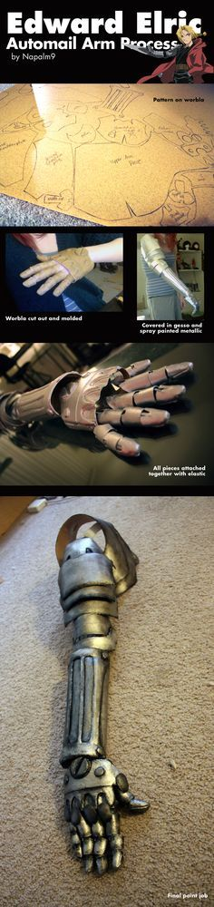 Edward Elric Automail Arm Process by Napalm9.deviantart.com on @deviantART