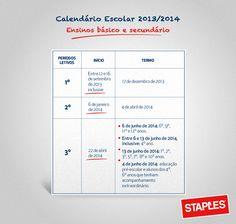 Calendário Escolar 2013/2014