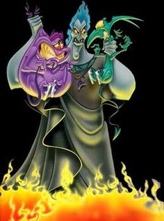 possible a great disney villain next to scar from lion king. Gotta love Hades and pain and panic.