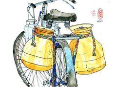 The milkman's bicycle.