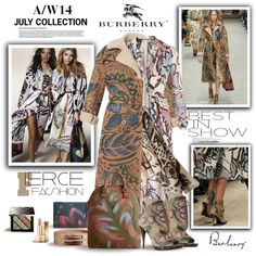 """""""The Burberry A/W14 July Collection"""" by margaretferreira on Polyvore"""