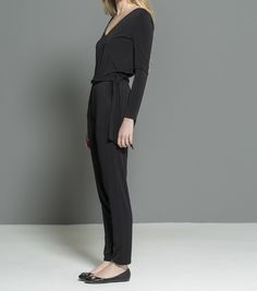 black casual jumpsuit