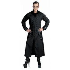 Déguisement Gothique Manteau deluxe Homme, Costume Halloween adulte, carnaval de Venise, bal des vampires, Halloween, fêtes.