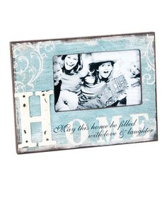 Take a look at this Blue & White 'Home' 4'' x 6'' Frame by Wilco on #zulily today!
