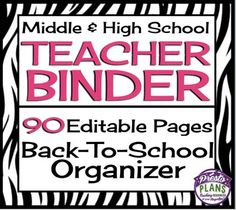 This fully editable and customizable binder has absolutely everything you will need to start your year off organized and ready to roll!  All you have to do is print, hole punch, add to a three ring binder, and viola - everything you need in one place!