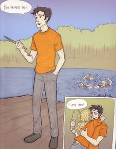 Percy Jackson fan art-- I really love that style of drawing
