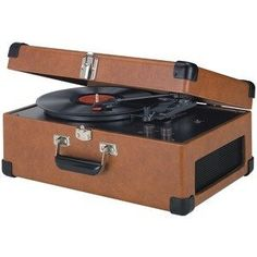 "NEW CROSLEY RADIO CR49-TA TRAVELER TURNTABLE (TAN) (HOME AUDIO) by Crosley. $117.02. BELT-DRIVEN TURNTABLE MECHANISM; PLAYS 33 1/3, 45 & 78 RPM RECORDS; PLAYS 7"", 10"" & 12"" RECORDS; DIAMOND-STYLUS NEEDLE; MANUAL RETURN TONE ARM; ADJUSTABLE TONE CONTROL; DYNAMIC FULL-RANGE STEREO SPEAKERS; SOLID WOOD CONSTRUCTION; VINYL WRAPPED; CHROME SNAP CLOSURE; CORNER GUARDS; METAL RESIN HANDLE; TAN. Save 10%!"