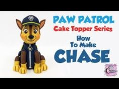 Paw Patrol Cake Topper Series - How To Make CHASE - YouTube