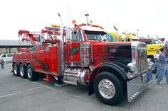 "Ernie's Wrecker Service - Vernon Hills IL, Peterbilt 378 w/ Century 70 ton rotator (the original ""Showtime"") Show Trucks, Big Rig Trucks, Dump Trucks, Hot Rod Trucks, Old Trucks, Wrecker Service, Towing Company, Towing And Recovery, Custom Big Rigs"