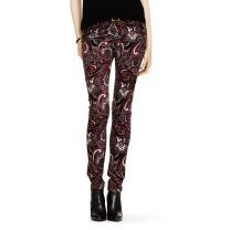 Club Monaco Violet Paisley Skinny Cord Believe it or not, I would totally rock these with a chunky black sweater or a slim black tee layered with a drapey wrap cardi and some boots. Always been a fan of the go-to-hell pant!