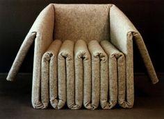 Made by folding and gluing layers of industrial felt, Elephant Seating, designed by architect Ben Ryuki Miyagi
