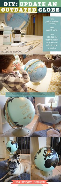 DIY - Painted globe {Every heart matters} Supplies...