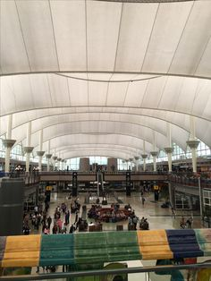 Main terminal at Denver airport. Hard to imagine Denver airport gets over 300,000 passengers a day.