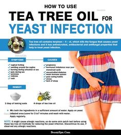 How to Use Tea Tree Oil for Yeast Infections? Tea tree oil is a perfect alternative to antibiotics to reduce yeast infections. Here we discussed effective ways to use tea tree oil for ye Yeast Infection Home Remedy, Yeast Infection Symptoms, Yeast Infection Treatment, Fungal Infection, Tea Tree Oil Uses, Tea Tree Oil For Acne, Young Living Oils, Young Living Essential Oils, Yeast Infection Essential Oils