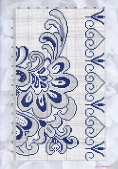 Red Pattern, Magnolia Flower, Blackwork, Embroidery Stitches, Cross Stitch Patterns, Needlework, Diy And Crafts, Knit Crochet, Quilts