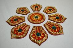 Thali Decoration Ideas, Diwali Decorations, Festival Decorations, Rangoli Designs Images, Rangoli Designs Diwali, Henna, Mughal Miniature Paintings, Diya Rangoli, Diwali Cards