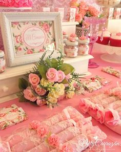 Shabby chic communion party! See more party planning ideas at CatchMyParty.com!