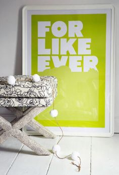 For Like Ever Print - Green