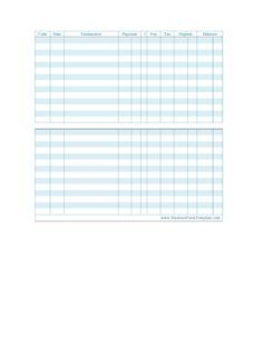 Large Print Check Register Printable  Budget Printables