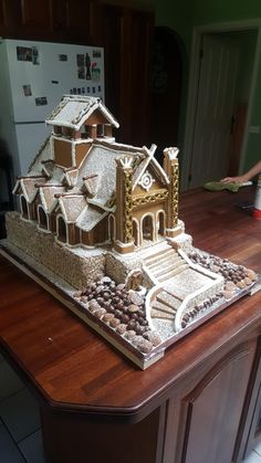 My friend made a lord of the rings gingerbread house - Imgur