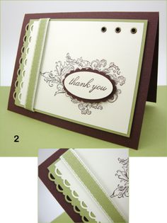 Simple and elegant using Stampin Up!.  I have all these things-why didn't I think of using them together?
