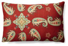 Only 2 left for the next hour! One Kings Lane - Season's Best - Vibrant 12x18 Pillow, Red