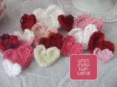Chic and Cheap: Easy Crochet Heart tutorial.  Easier than the previous one I pinned (purple hearts).