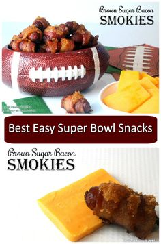 Brown Sugar Bacon Smokies are the perfect appetizer or snack to satisfy the meat-lovers at your Super Bowl party! Three-ingredient simple!
