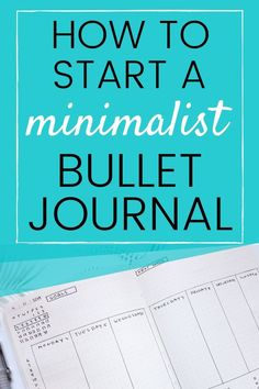 Learn how to start a minimalist bullet journal Simple Bullet Journal Ideas Bullet Journal 2020, Bullet Journal Printables, Bullet Journal How To Start A, Bullet Journal Ideas Pages, Bullet Journal Spread, Bullet Journal Layout, Bullet Journal Inspiration, Bullet Journals, Bujo Weekly Spread