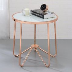 ACME Alivia Frosted Glass End Table - 81837