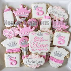princess baby shower cookies                                                                                                                                                                                 More