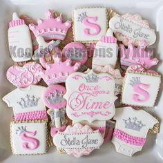 princess baby shower cookies