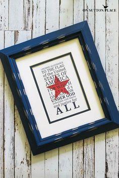 Pledge of Allegiance Free Printable | On Sutton Place
