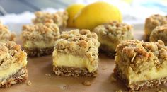 Creamy Lemon Crumb Bars