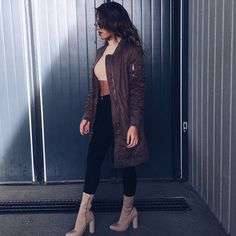 """Bomberjacket from @misspap , use the discountcode """"NGUYEN10"""" for savings  // Heels from @simmishoes //"""