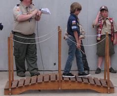 cub scout bridge idea- no plans unfortunately