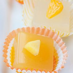 Mango Cosmopolitan Jelly Shot - might have to make them for the Superbowl Party!