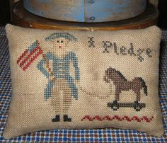 Toy Soldier Pillow Tuck, Designed By Country Rustic Primitives, Stitched By The Humble Stitcher