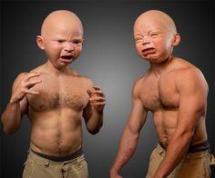 Masque tête de bébé effrayant