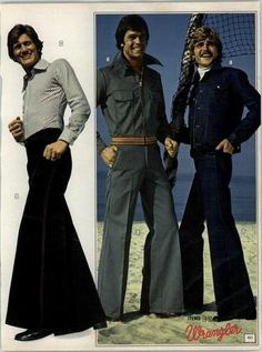 It was an absolute necessity that your bell bottom jeans were so big they covered your entire shoe!