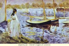 Edouard Manet. The Banks of the Seine at  Argenteuil. Olga's Gallery.